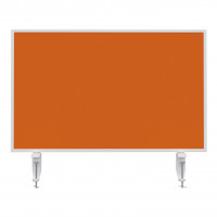 Table partition VarioPin Whiteboard / Filz Orange / 800x500mm