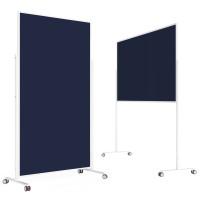 magnetoplan VarioPin design seminar boards Filz dunkelblau / 1800x1000mm / Rahmen weiß