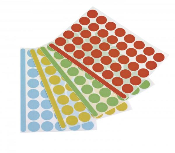 Round sticker, self adhesive