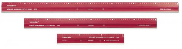 Non-slip aluminium cutting ruler PRO