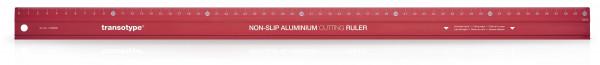 Non-slip aluminium cutting ruler