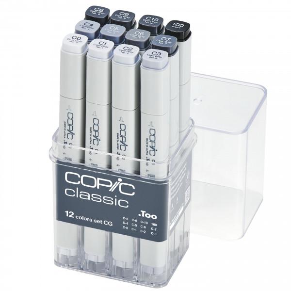 Copic Classic 12 Colour Cool Gray set