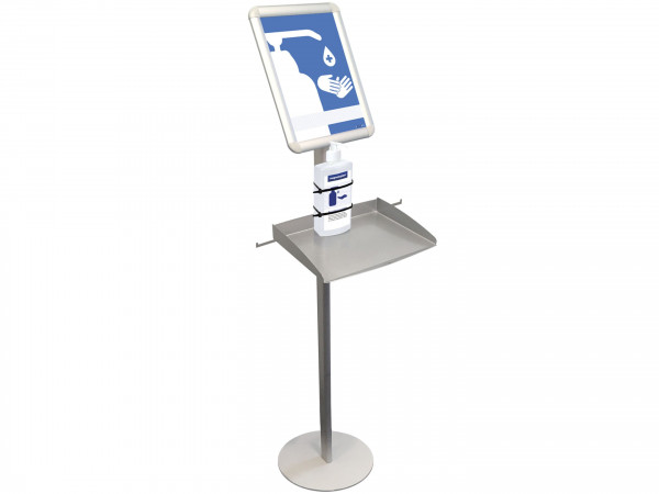 magnetoplan disinfectant station with hinged frame