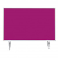 Table partition VarioPin Whiteboard / Filz Pink / 800x500mm