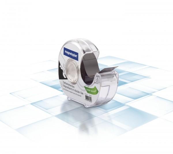 Magnetic tape in dispenser