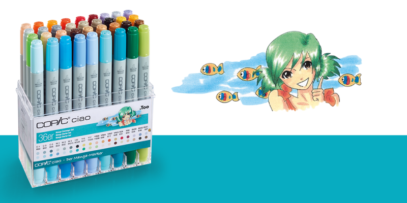 COPIC ciao 36er Set Manga