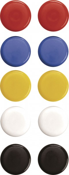 Signal magnet, assorted colours, D = 20mm