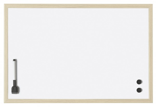 Whiteboards with wooden frame