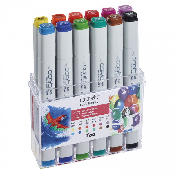 Copic Set Bright Colours 12pcs