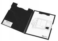 Magnetic clipboard folder schwarz / A4